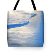 Snow Sunlight And Shadows Tote Bag