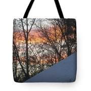 Snow Sunset Tote Bag