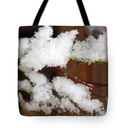 Snow Twig Abstract Tote Bag