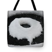 Snow Vent Abstract Tote Bag