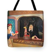 Snow White With Apple Tote Bag