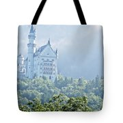 Snow White's Palace In Morning Mist Tote Bag