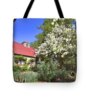 Snowball Tree In The Garden Tote Bag