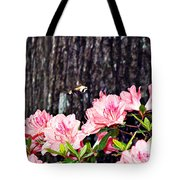 Snowberry Clearwing II- Sphinx Moth Tote Bag