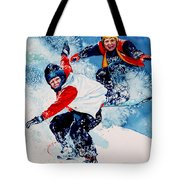 Snowboard Psyched Tote Bag