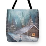Snowbound Holiday Tote Bag