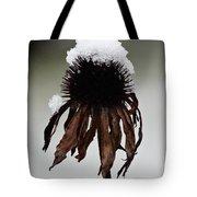 Snowcapped Coneflower Tote Bag