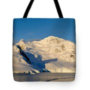 Snowcapped Mountain, Andvord Bay Tote Bag