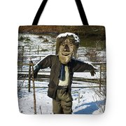 Snowcapped Scarecrow Tote Bag