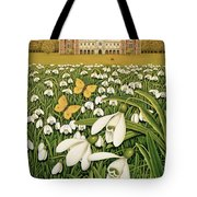 Snowdrop Day, Hatfield House Tote Bag