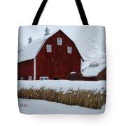 Snowed In Barn Tote Bag