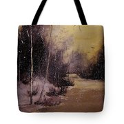 Snowfall At Dusk Tote Bag