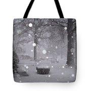 Snowfall On Ayers Tote Bag