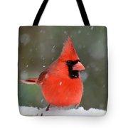 Snowflake Cardinal Tote Bag