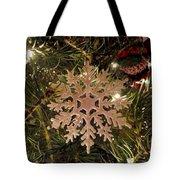 Snowflake Ornament Tote Bag