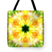 Snowflake Sunburst Tote Bag