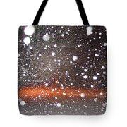 Snowflakes And Orbs Tote Bag