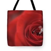 Snowflakes On A Rose Tote Bag