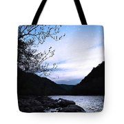Snowflakes On The River Tote Bag