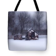 Snowing At Narcissa Road Springhouse Tote Bag