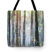 Snowing In The Ice Forest Tote Bag