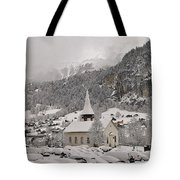 Snowing In The Valley Tote Bag