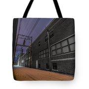 Snowlit Alley Tote Bag