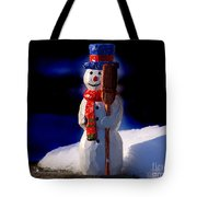 Snowman By George Wood Tote Bag