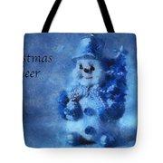 Snowman Christmas Cheer Photo Art 01 Tote Bag