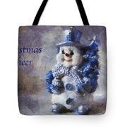 Snowman Christmas Cheer Photo Art 02 Tote Bag