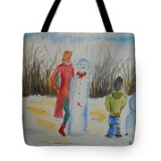 Snowman Competition Tote Bag