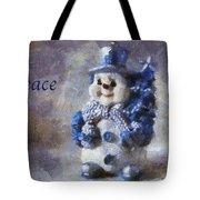 Snowman Peace Photo Art 01 Tote Bag