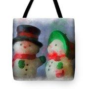 Snowman Photo Art 09 Tote Bag