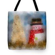 Snowman Photo Art 13 Tote Bag
