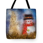 Snowman Photo Art 14 Tote Bag