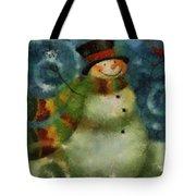 Snowman Photo Art 16 Tote Bag