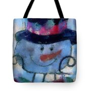 Snowman Photo Art 34 Tote Bag