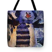 Snowman Photo Art 44 Tote Bag