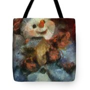 Snowman Photo Art 47 Tote Bag