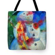 Snowman Photo Art 53 Tote Bag
