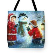 Snowman Song Tote Bag