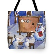 Snowman University Tote Bag