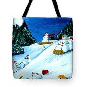 Snowmans Winter Sports Tote Bag