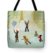 Snowmen Tote Bag by Ditz