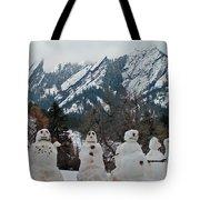 Flatiron Snowmen. Tote Bag