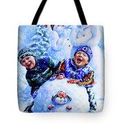Snowmen Tote Bag