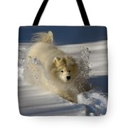 Snowplow Tote Bag by Lois Bryan