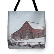 Snowstorm At The Ranch 2 Tote Bag
