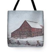 Snowstorm At The Ranch 2 Tote Bag