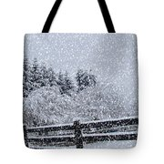 Snowstorm Coming Tote Bag by Beverly Guilliams